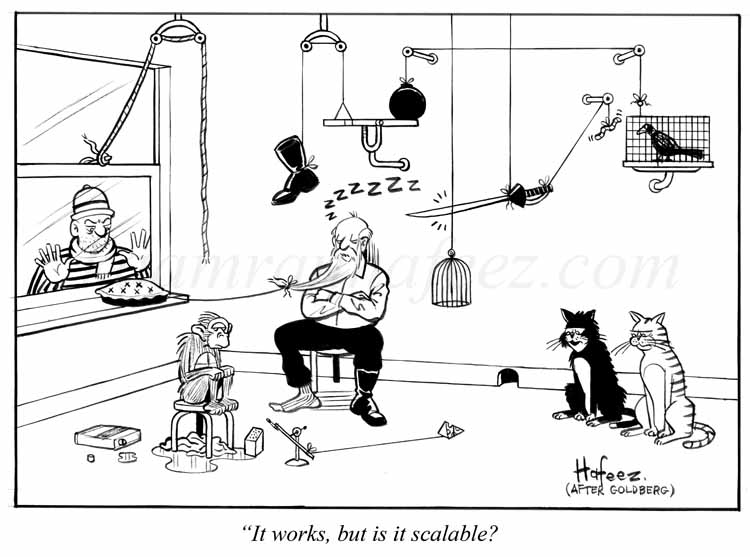 "It Works, But Is It Scalable?"" - Harvard Business Review Cartoon -"